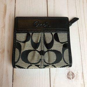 Coach monogram small wallet coin purse